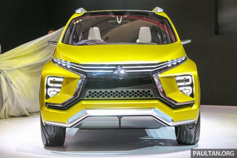 มาชมคันจริงของ Mitsubishi XM Concept มินิแวนเอสยูวีท้าชน Honda BR-V - HeadLight Magazine