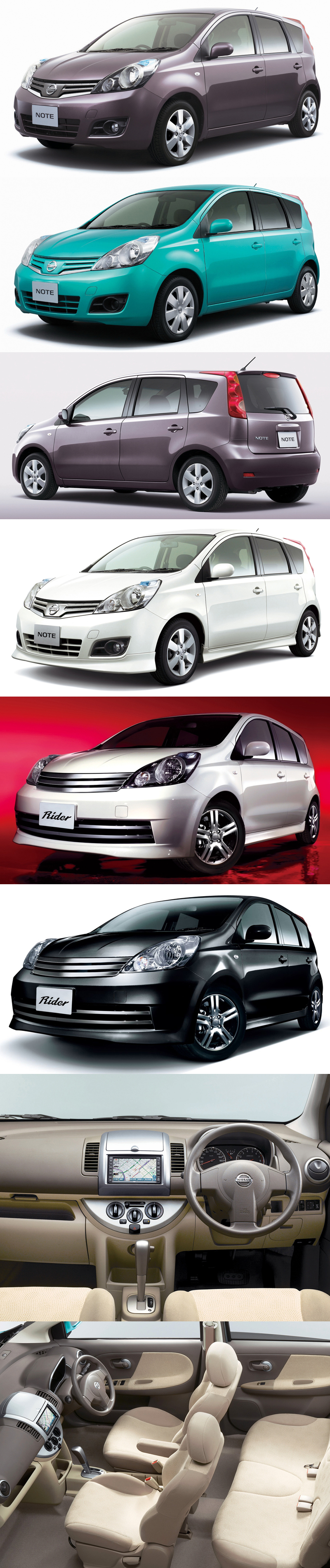 2010_Nissan_Note_Lineup
