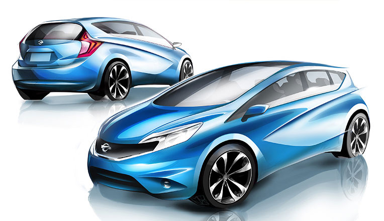 2012_Nissan_Note_Design_Sketch